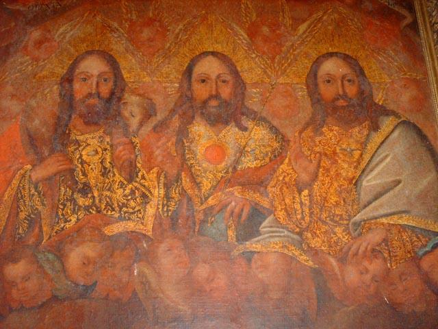 Holy Trinity painting, Iglesia de Nata, Church of Nata, Cocle, Panama