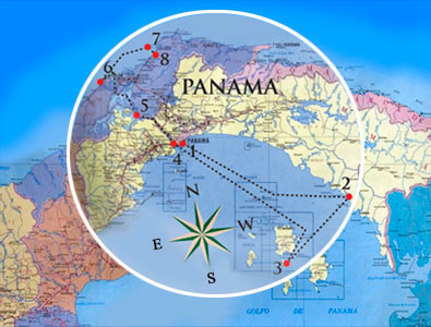 Luxury Cruise through Panama Canal from Pacific to Atlantic, from the Pearl Islands to Portobelo