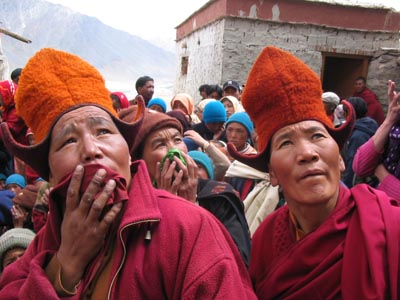 Buddhist nuns visiting the Karsha festival, Ladakh