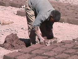 Ladakh, making adobe brick