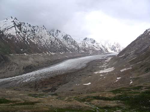 Drung Drang Glacier as seen from top of Pensi La