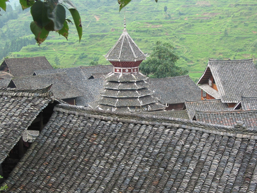 Rooftops of Zhaoxing village, Guizhou