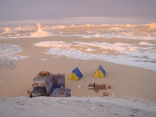 Camping in Egypt's White Desert