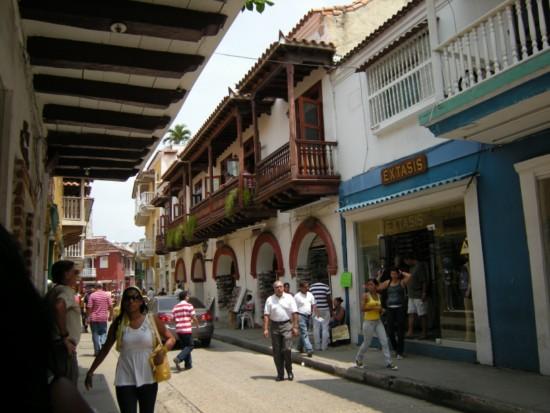 Cartagena, Colombia, street scene