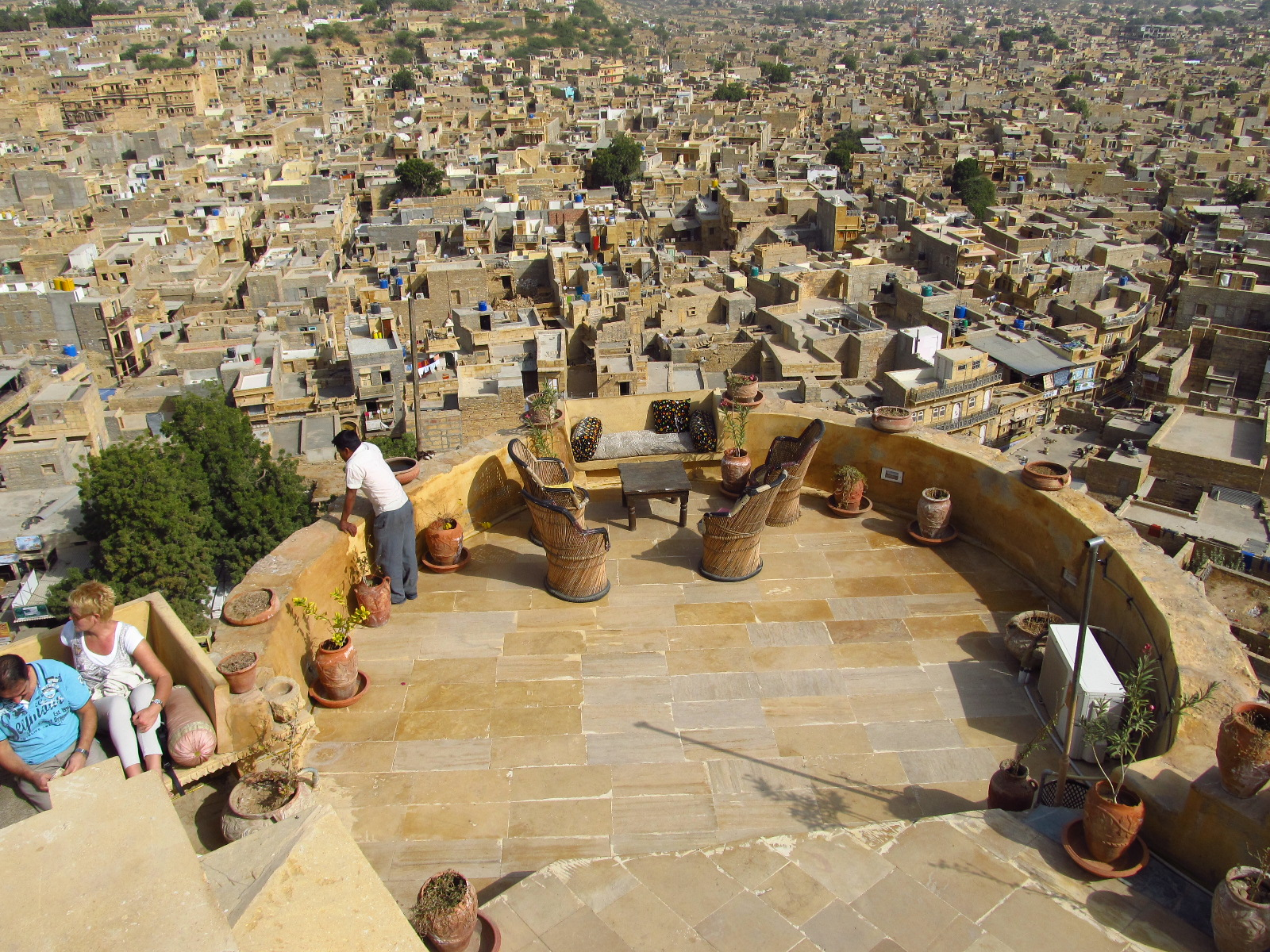 Panorama of Jaisalmer from north-east ramparts