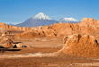 Moon valley, Volcano Licancabur and Juriques Atacama desert Chile