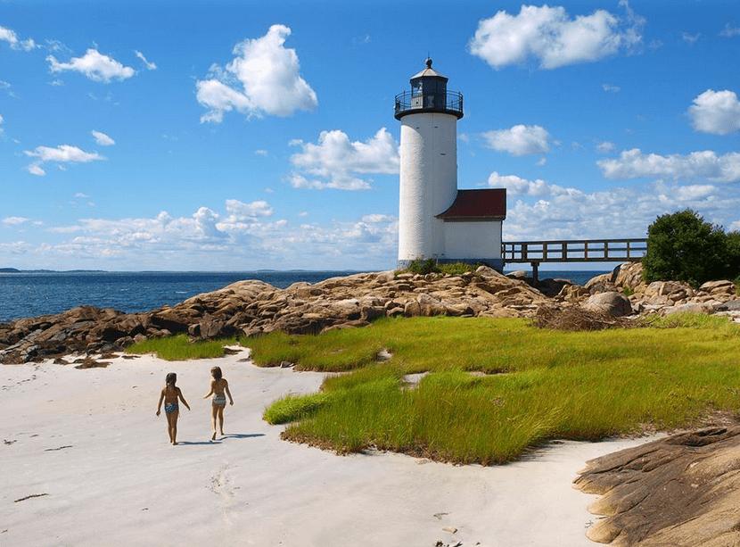 Lighthouse beach Gloucester, Massachusetts - Weekend getaways New York city