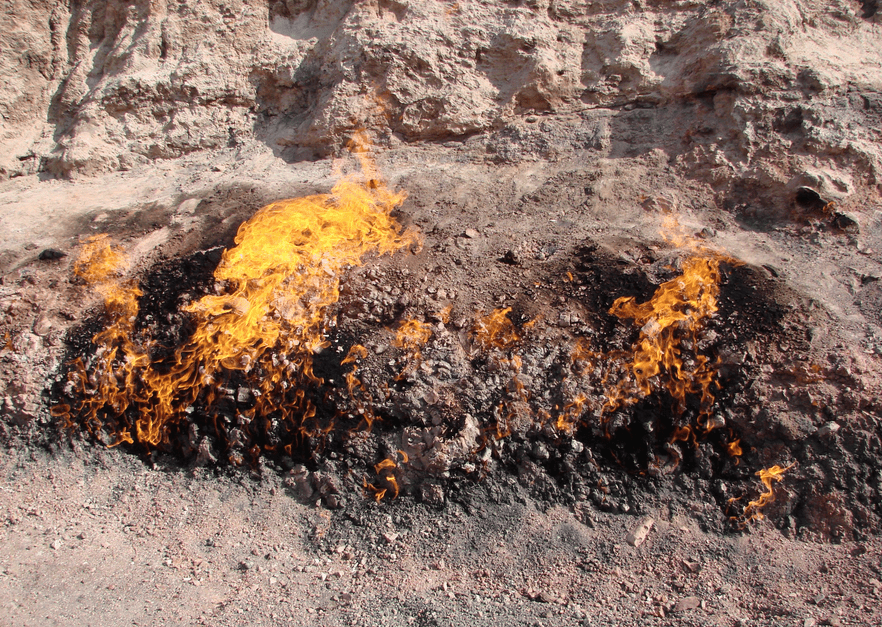 Yanar dag or the burning mountain of Azerbaijan