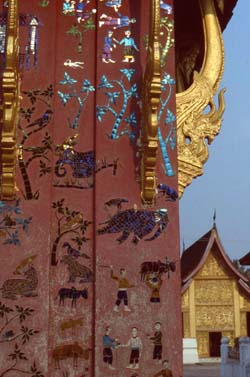 Lavishly decorated temples and stupas in Luang Prabang
