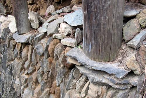 Footing of a Zhaoxing house, Guizhou Province, China