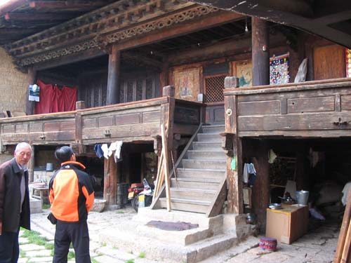 The oldest Tibetan house in Zhongdian, over 400 years old.
