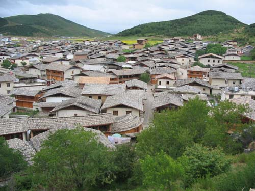Rooftops of the Old Tibetan Town of Zhongdian