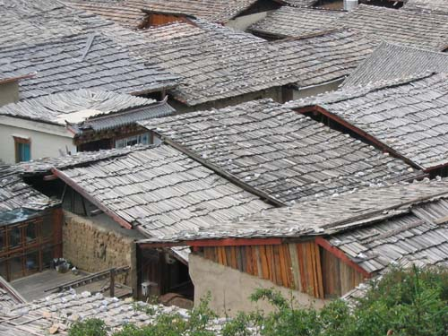Rooftops of the Old Tibetan Town in Zhongdian