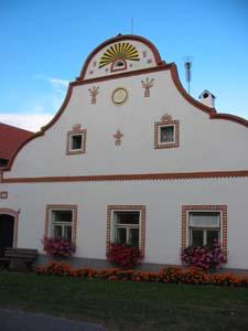 Holasovice folk baroque architecture