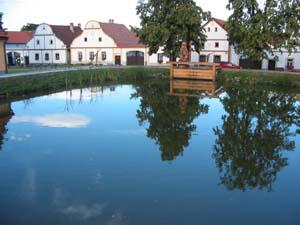 Holasovice village pond
