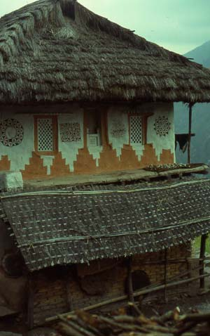 Rai house architecture, fascade decorations