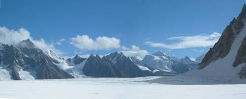 Panorama of Biafo Glacier