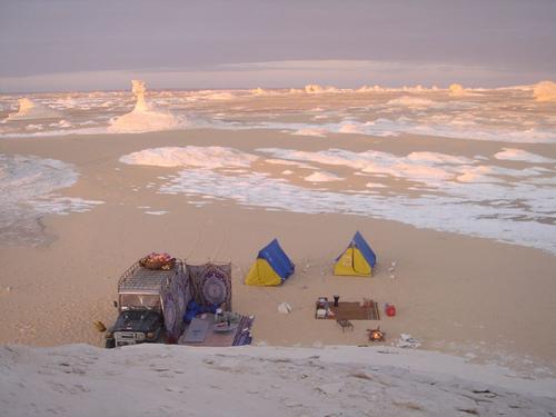 Camping in Egypt's White Desert