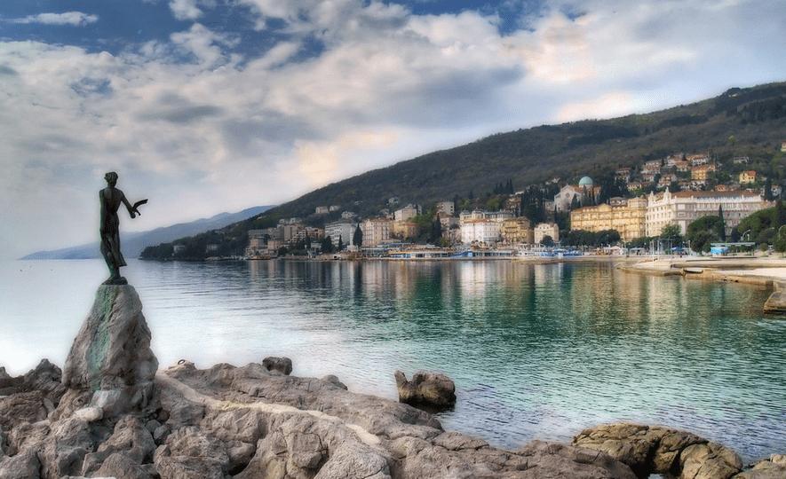 Statue of opatija beach croatia