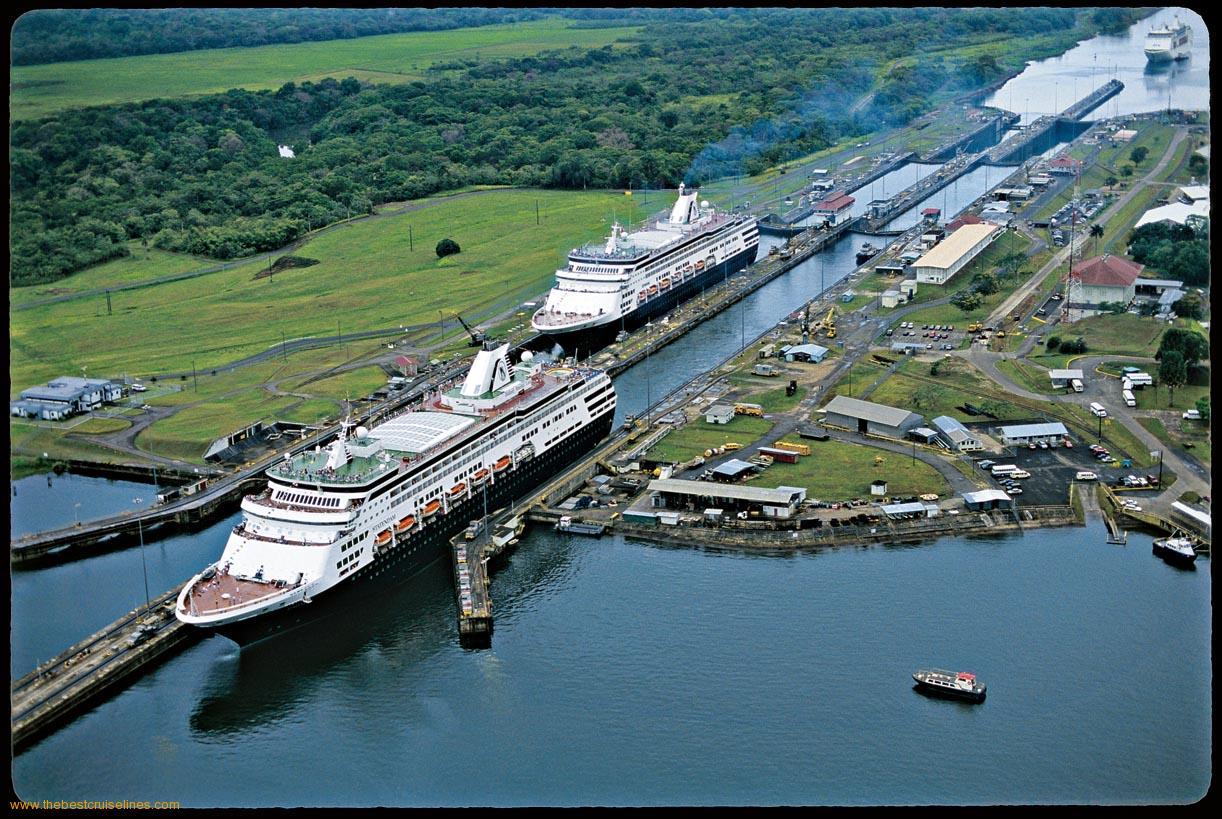 Cruiser at panama canal