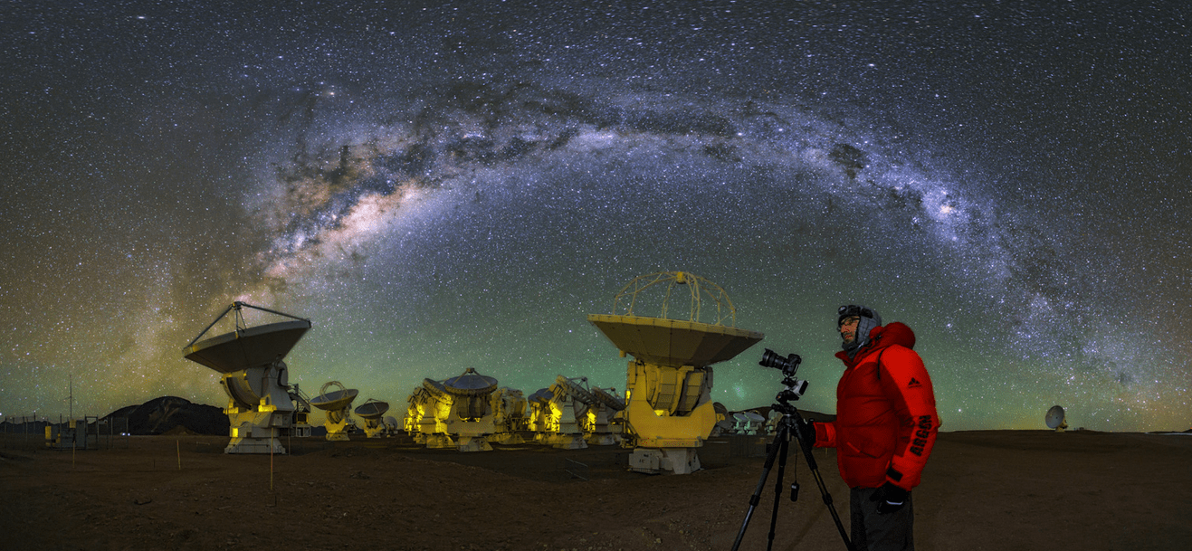 Milky way galaxy view from Atacama