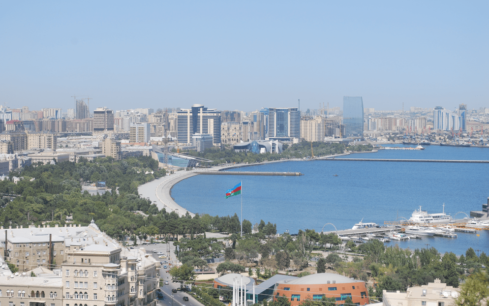A view of Baku and It's Boulevard