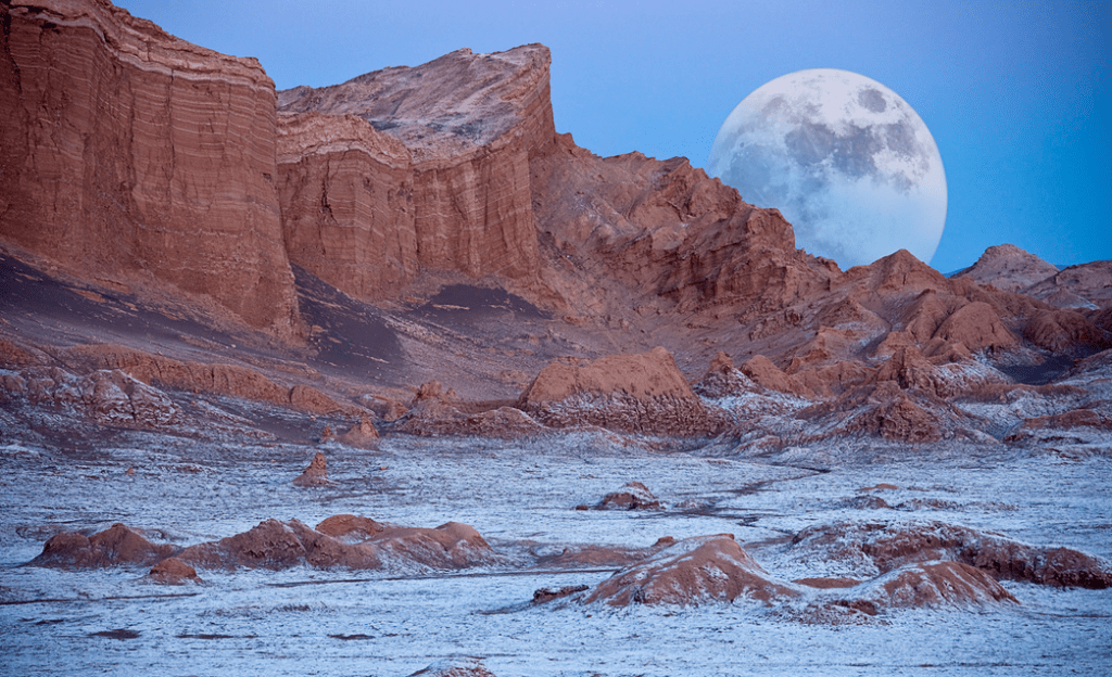 Valle de La Luna - Valley of Moon in Atacama Desert in Chile