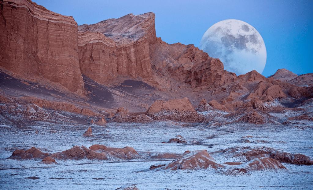 Valle de La Luna - Valley of Moon in Atacama Desert in Chile